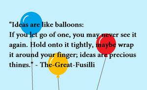 Balloons Quote by PennyElizabeth