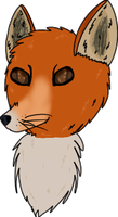 fox headshot by L0-NE