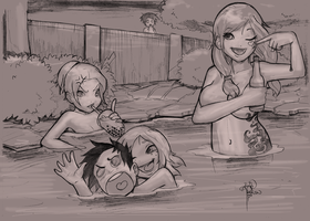 Megumi at the Hot Springs WIP by sykoeent