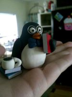 Mr. Library Penguin by abarra01