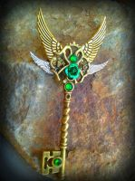 Emerald Sunrise Fantasy Key by ArtByStarlaMoore