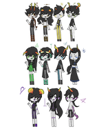 Fantroll adopts (1/11 open) by peachymoo