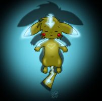 Avachu the Electric Air Bender by eevee4everX3