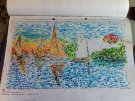 Unfinished imprssionistic schoolwork by Anna-chan14