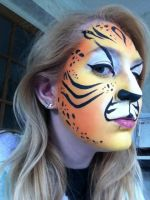 Tiger Facepainting- Side by sazmullium