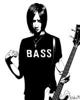 Toshiya the bass player by bideru