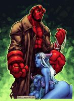 Hellboy by Barrios QuickPaint by Ross-A-Campbell