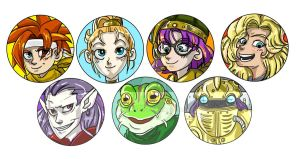 Chrono Trigger Buttons by animatey