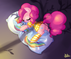 Good night Pinkie by basakdash