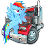 Rainbow Dash Rig N Roll Icon by Rainbowdashfan84