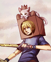 A Box Prince and his knight by SimonAdventure