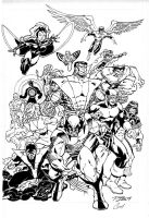 classic x-men pencils by Ron Lim, inks by Curiel by lobocomics