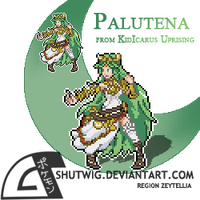 Palutena Sprite - Kid Icarus Uprising by Shutwig