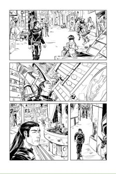 EarthSons issue 3 page5 inks by DJLogan
