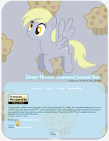 Animated Derpy Hooves Journal Skin by Pinipy