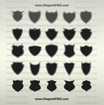 55 Shields Custom Shapes by Shapes4FREE