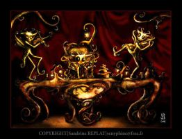 The Moontree creature's Party by senyphine