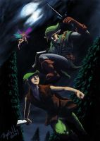 Link v. Peter Pan by BenjaminGalley