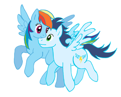 Rainbow Dash and Soarin (Vector Version) by lotothetrickster