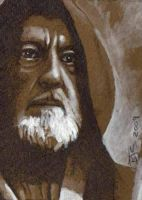 Obi Wan Kenobi sketch card by shelbysnake