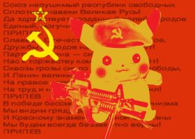 Soviet Union Pikachu by Varegess