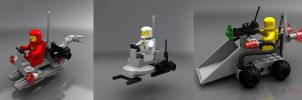 LEGO mini space vehicles by zpaolo
