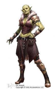 Tales of Arcana Orc Female by MiguelRegodon