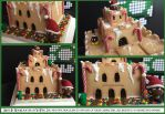 Mario Gingerbread Castle by NerdEcrafter