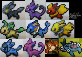 Pokemon Bead Sprites by RonTheWolf