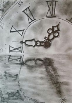 Time is a face on the water by DivinoArtista