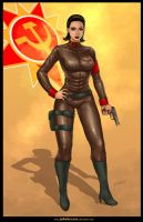 Commission: LT SOFIA from Red Alert 2 by johnbecaro