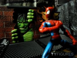 Hulk and Spidey by Tystarr