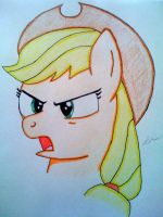 Angry Apple - Applejack by Cursive-Spill