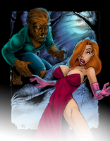 Wolfman Meets Jessica Rabbit by XxXDASXxX