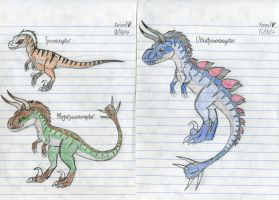 The Tyrannoraptors 2.0 by Dinoboy134