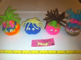 Crocheted Cat Toys: Creatures by alillama88