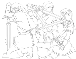 LoZ: Sword LineArt by Past-Chaser