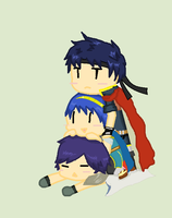 Ike,Marth and Chrom together by Ca14