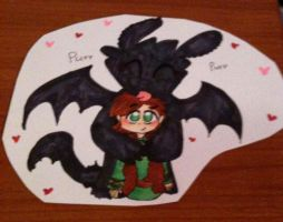 Friendship Toothless Hiccup by Kittychan2005
