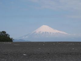 Fujisan from Miho Beach by Jellybeansnlilfinch