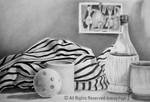 Striped Cloth Still Life by Wolf-Daughter