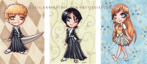 Bleach Chibis Set One ACEOs by shidonii