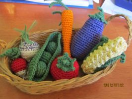Crochet Vegetables by Tuloa