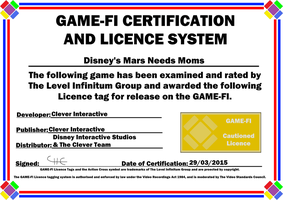 Disney's Mars Needs Moms Game-Fi Certificate by LevelInfinitum