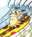 Surfing Mimikyu by VacantWhale