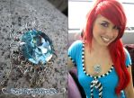 Sky Gem Necklace by Lillyxandra