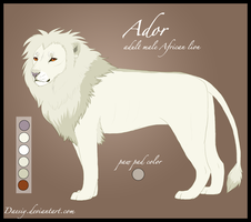 Ador Reference sheet by Daesiy