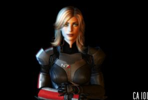 Blonde Commander Shepherd by CharonA101