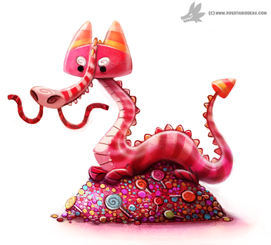 Daily Painting #932. Candy Dragon by Cryptid-Creations
