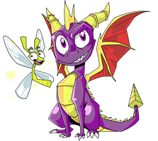 Spyro and Sparx by Greathorn